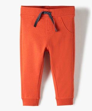 Pantalon de jogging bébé uni vue1 - GEMO C4G BEBE - GEMO