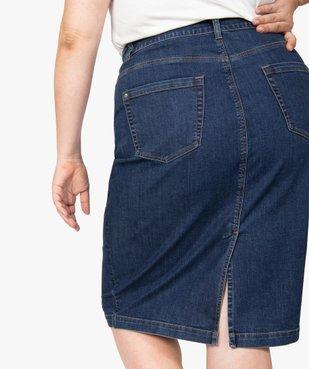 Jupe femme en jean longueur genou vue2 - GEMO (G TAILLE) - GEMO