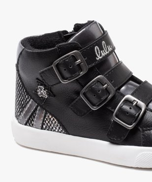 Baskets fille mid-cut zippées dessus métallisé - Lulu Castagnette vue6 - LULU CASTAGNETT - Nikesneakers
