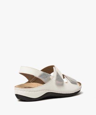 Sandale femme confort à larges brides scratch vue4 - GEMO (CONFORT) - GEMO