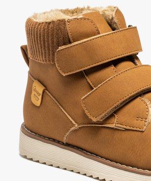 Boots garçon unis à col rembourré et doublure chaude vue6 - Nikesneakers (ENFANT) - Nikesneakers
