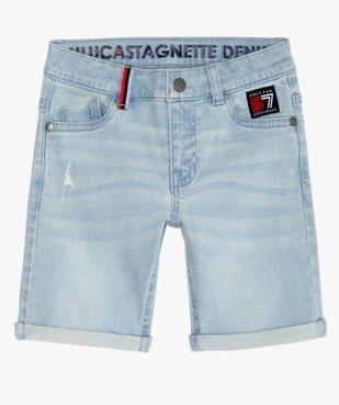 Bermuda garçon en jean stretch - Lulu Castagnette vue2 - LULUCASTAGNETTE - GEMO