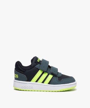 Baskets bébé garçon avec bandes fluo – Adidas Hoop 2.0 vue1 - ADIDAS - GEMO