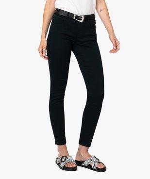 Pantalon femme coupe slim en toile extensible vue1 - GEMO(FEMME PAP) - GEMO