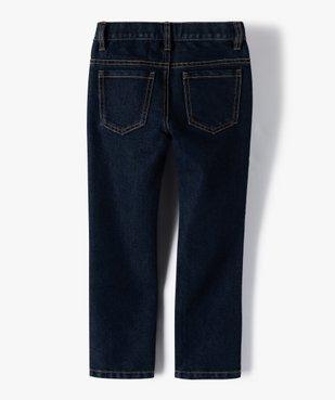Jean garçon coupe Regular avec coutures contrastantes vue4 - GEMO C4G GARCON - GEMO