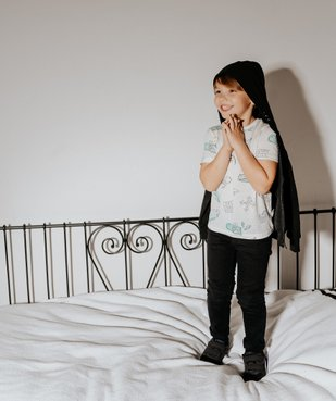Sweat garçon zippé et molletonné avec capuche vue6 - GEMO (ENFANT) - GEMO