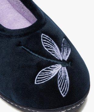 Chaussons femme ballerines à talon en velours - Isotoner vue6 - ISOTONER - Nikesneakers