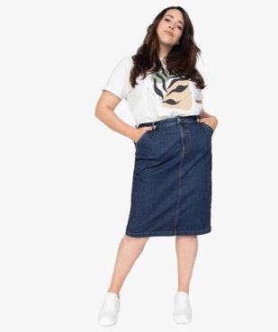 Jupe femme en jean longueur genou vue5 - GEMO (G TAILLE) - GEMO