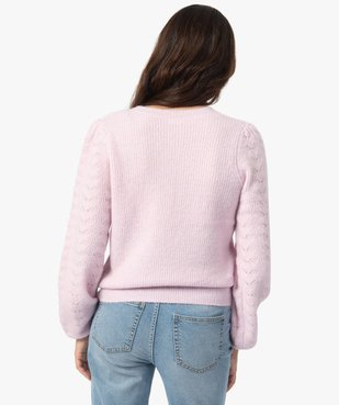 Pull femme en grosse maille à manches fantaisie vue3 - Nikesneakers C4G FEMME - Nikesneakers