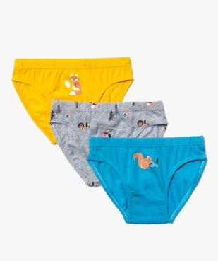 Slips garçon en coton bio à motifs à motifs animaux (lot de 3) vue1 - Nikesneakers C4G GARCON - Nikesneakers