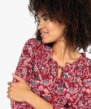 Blouse femme imprimée avec manches 3/4 élastiquées vue1 - GEMO(FEMME PAP) - GEMO