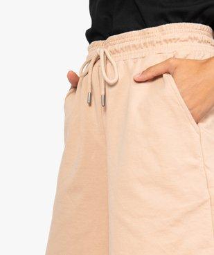 Short femme en maille ample à taille haute vue2 - GEMO(FEMME PAP) - GEMO