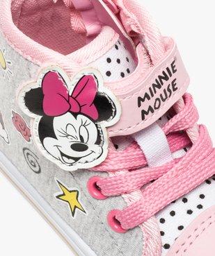 Baskets montantes bébé fille en toile fermeture scratch Minnie vue6 - MINNIE - GEMO