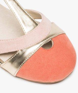 Ballerines fille style salomés tricolores fermeture à boucle vue6 - Nikesneakers (ENFANT) - Nikesneakers