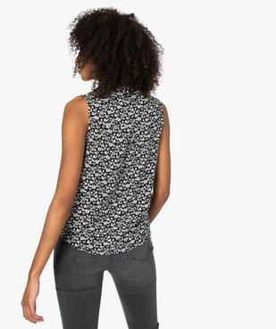 Blouse femme sans manches imprimée avec col chemise vue3 - Nikesneakers(FEMME PAP) - Nikesneakers