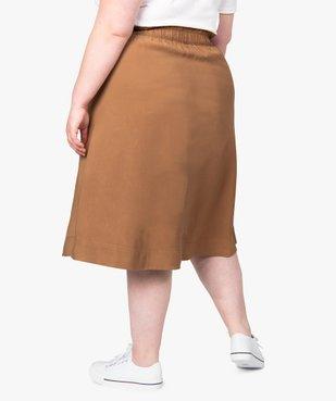 Jupe femme midi à taille élastiquée avec boutons fantaisie vue3 - GEMO (G TAILLE) - GEMO