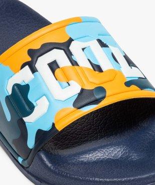 Mules de piscine garçon à bandeau camo « Cool » vue6 - Nikesneakers (ENFANT) - Nikesneakers