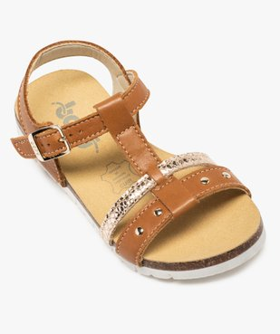 Sandales fille dessus cuir à semelle contrastante - Bopy vue5 - BOPY - GEMO