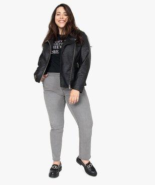 Veste femme esprit biker avec fermetures zippées vue5 - GEMO (G TAILLE) - GEMO