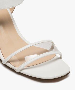 Sandales femme à talon carré et bride transparente vue6 - GEMO(URBAIN) - GEMO