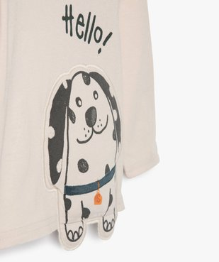 Tee-shirt bébé garçon avec motif chien en relief vue2 - GEMO(BEBE DEBT) - GEMO
