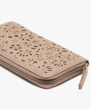 Portefeuille femme avec motifs ajourés à fermeture zippée vue2 - GEMO (ACCESS) - GEMO