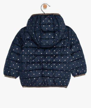 Doudoune bébé fille fine à motifs étoiles et détails pailletés vue3 - GEMO(BEBE DEBT) - GEMO