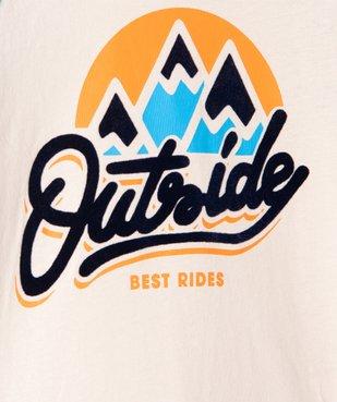 Tee-shirt garçon à manches longues multicolore à motif velours vue3 - GEMO (ENFANT) - GEMO