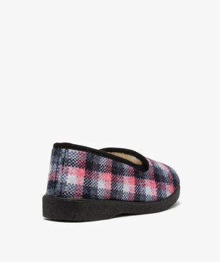 Chaussons femme style charentaises à carreaux vue4 - Nikesneakers(HOMWR FEM) - Nikesneakers