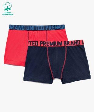 Boxer homme à ceinture imprimée (lot de 2) vue1 - GEMO C4G HOMME - GEMO