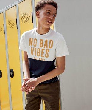 Tee-shirt garçon à manches courtes avec message vue6 - GEMO (ENFANT) - GEMO