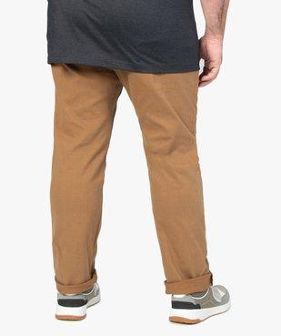 Pantalon homme coupe Straight en toile épaisse vue3 - GEMO (G TAILLE) - GEMO