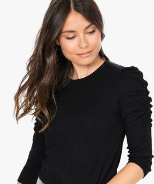 Tee-shirt femme à manches ¾ froncées vue2 - GEMO(FEMME PAP) - GEMO