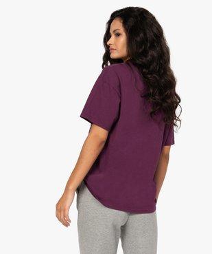 Tee-shirt femme ample à manches courtes et motif XXL - CAMPS vue3 - CAMPS UNITED - GEMO