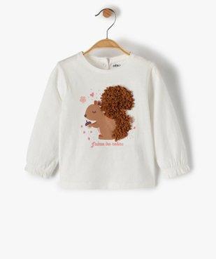 Tee-shirt bébé fille à manches longues avec motif en relief vue1 - GEMO(BEBE DEBT) - GEMO