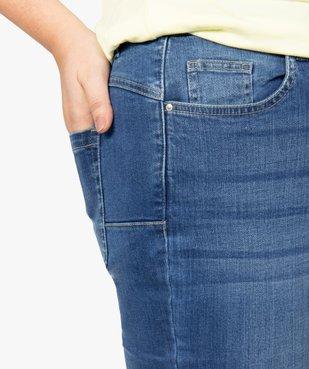 Jean femme coupe slim à faux plis vue2 - GEMO (G TAILLE) - GEMO