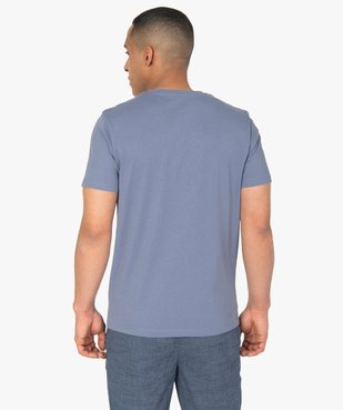 Tee-shirt homme à manches courtes uni vue3 - GEMO C4G HOMME - GEMO