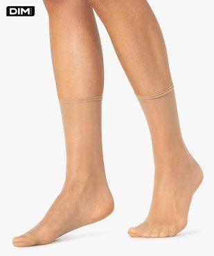 Socquettes femme transparentes Beauty Resist (lot de 4) - Dim vue1 - DIM - GEMO