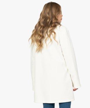 Manteau court femme en matière extensible et grand col vue3 - Nikesneakers(FEMME PAP) - Nikesneakers
