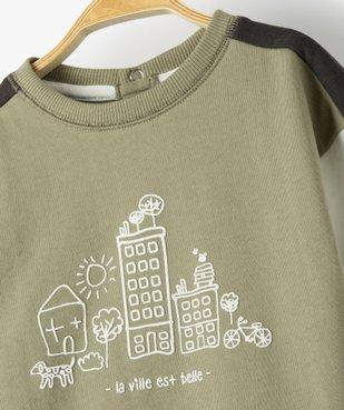 Sweat bébé garçon tricolore avec motif dessiné vue2 - Nikesneakers C4G BEBE - Nikesneakers