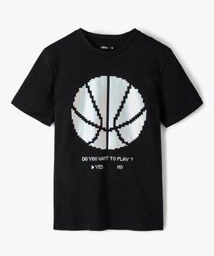 Tee-shirt garçon à manches courtes imprimé vue1 - GEMO (JUNIOR) - GEMO