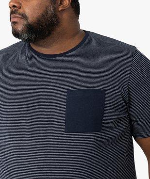 Tee-shirt homme à rayures et poche poitrine vue2 - GEMO (G TAILLE) - GEMO