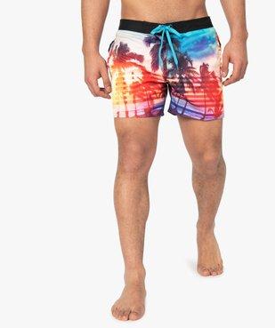 Short de bain homme motif palmiers - Freegun vue1 - FREEGUN - GEMO