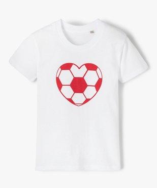 Tee-shirt fille motif fantaisie football vue1 - GEMO (ENFANT) - GEMO