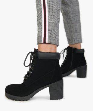 Boots femme à talon et semelle crantée vue1 - GEMO(URBAIN) - GEMO