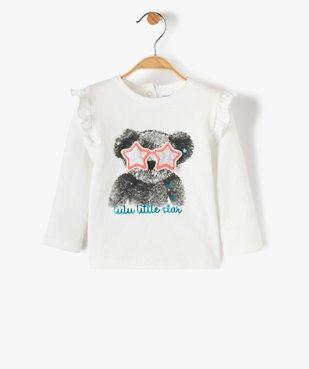 Tee-shirt bébé fille avec volants aux épaules – Lulu Castagnette vue1 - LULUCASTAGNETTE - Nikesneakers