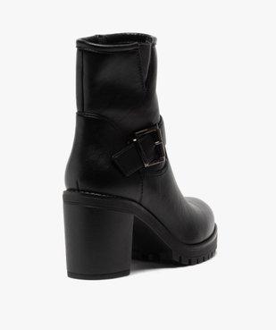 Boots femme unis à semelle crantée et bride fantaisie vue4 - GEMO(URBAIN) - GEMO