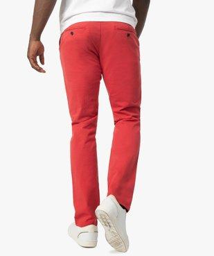 Pantalon chino homme en coton stretch vue3 - GEMO (HOMME) - GEMO