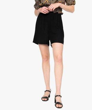 Short femme uni avec taille élastiquée  vue1 - GEMO(FEMME PAP) - GEMO