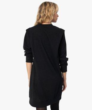 Robe femme sweat avec épaulettes - LuluCastagnette vue3 - LULUCASTAGNETTE - GEMO